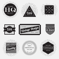 vintage labels collection,design template