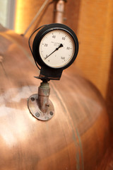 Thermometer on the tank