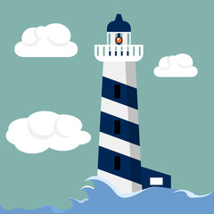 Lighthouse flat illustration