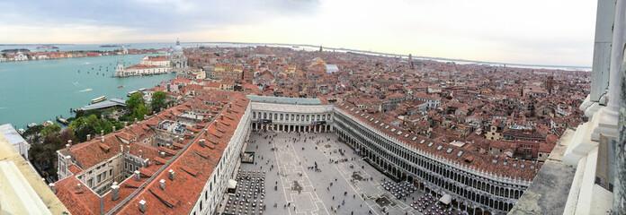 Aerial panorama of Venice