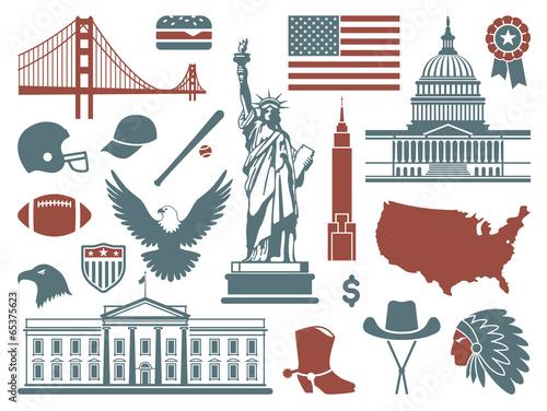 Symbols of the USA - 65375623