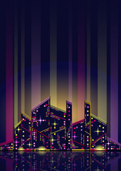Abstract night city