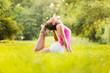 Exercising yoga