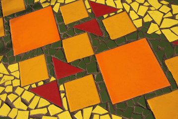 tile mosaic surface
