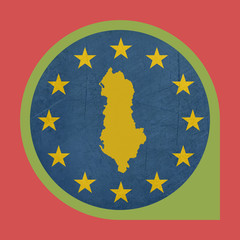 European Union Albania marker pin