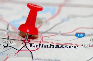 tallahassee fl city pin on the map