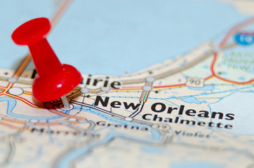 new orleans city pin on the map