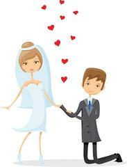 Набор свадебных фотографий, невесты и жениха в любви, вектора