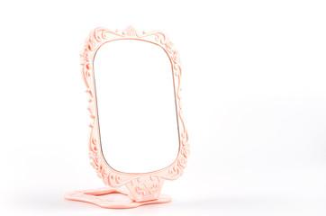 Mirror isolated white background