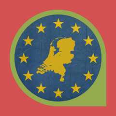 European Union Netherlands marker button