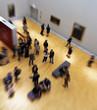 Leinwanddruck Bild - visite au musée