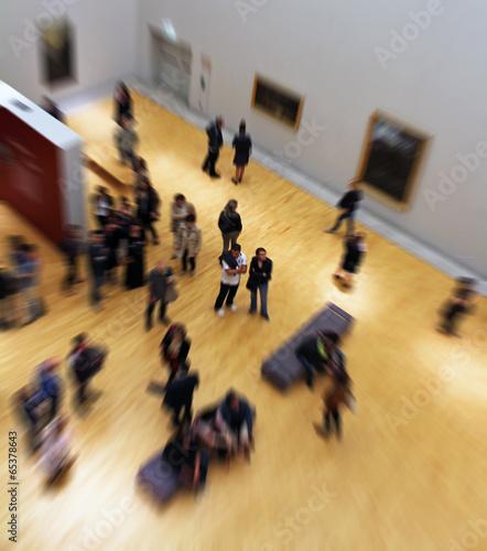 Leinwandbild Motiv visite au musée
