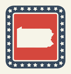 Pennsylvania American state button