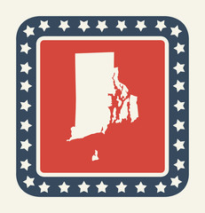 Rhode Island American state button