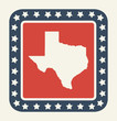 Texas American state button
