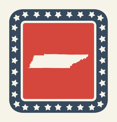 Tennessee American state button
