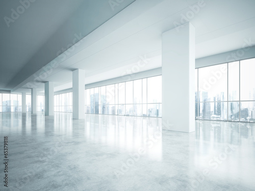 bright empty office interior - 65379818