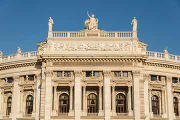 Facade of Burgtheater in Vienna
