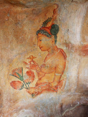 Frescoes at Sigiriya, Sri Lanka