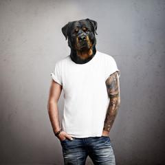 Man with dog head