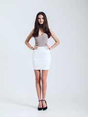 Girl in beautiful skirt. Catalogue shoot. very sexy