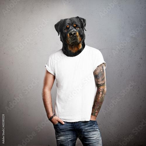 Man with dog head - 65380228