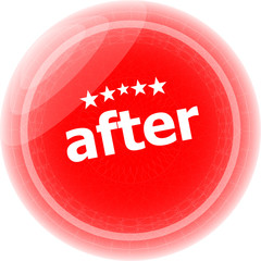 after word red stickers, icon button, business concept