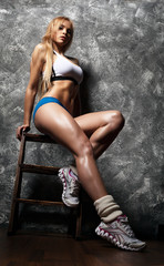 beautiful athletic woman