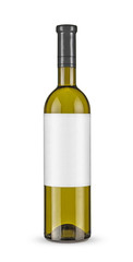Bottle of white wine -Clipping Path
