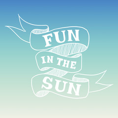 Hand drawn summer quote, vector illustration