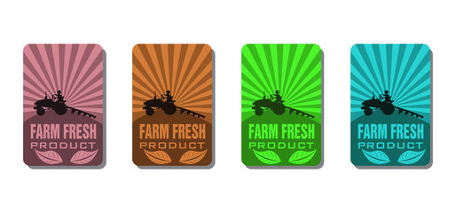 Farm fresh product stickers