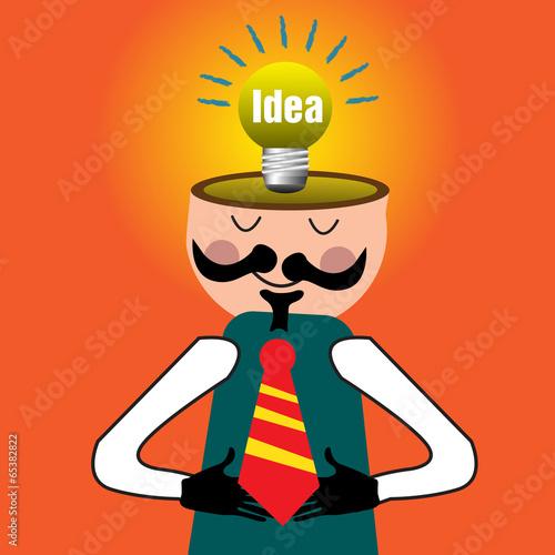 图像壁纸巧妙的思考想像力成功成就教育新的明亮的概念灯灯泡男人登录
