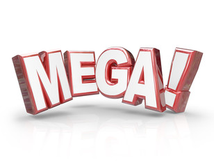 Mega 3d Word Large Letters Big Huge Enormous Deal