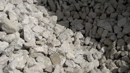 Big limestones ready for grinding