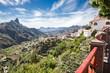 Leinwanddruck Bild - Tejeda - Gran Canaria - Blick ins Tal