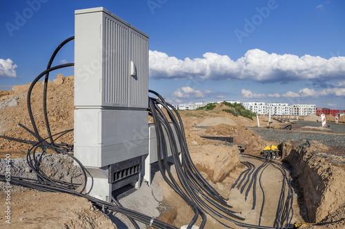 Leinwanddruck Bild Stromkabel Verteiler Zukunft