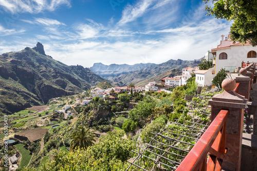 Foto op Canvas Mediterraans Europa Tejeda - Gran Canaria - Blick ins Tal