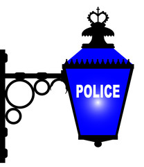 Police Station Blue Light