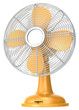 Table fan.Orange table fan. - 65385807