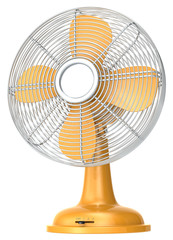 Table fan.Orange table fan.