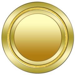 socle bouton web vierge en or reflets