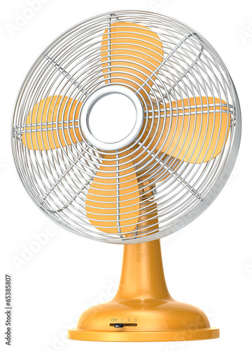 Table fan.Orange table fan. - 65385807