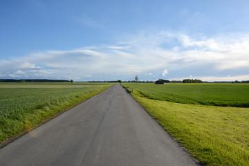 Landstraße in Ostallgäuer Landschaft