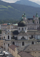Historical center of the Salzburg (Austria)