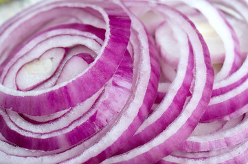 red onion on wooden surface