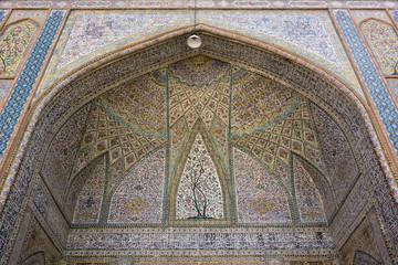 colorful mosque ornament in Shiraz
