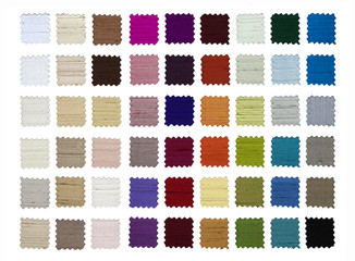 Fabric color samples.Silk.