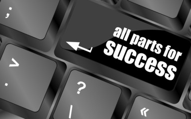 all parts for success button on computer keyboard key