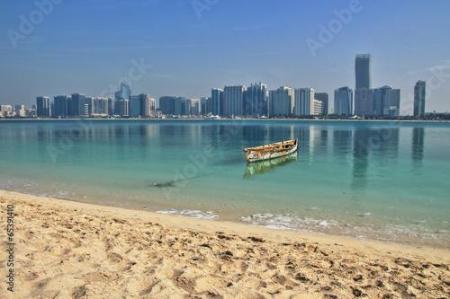 Aluminium Midden Oosten Skyline Abu Dhabi