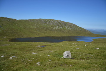 Lochan an t-Suidhe on a way to Ben Nevis summit